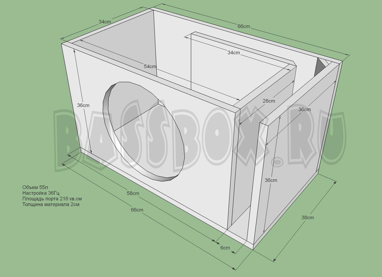Короб для сабвуфера своими руками: чертежи, схемы 55